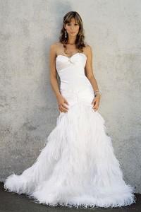 Mermaid Feather Wedding Dress