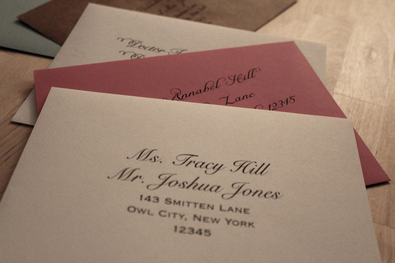 How To Write On Envelope For Wedding Invitations: Wedding Invitations