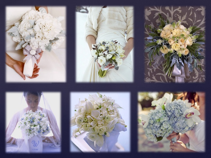 This style of bouquet would be perfect for a winter wonderland themed