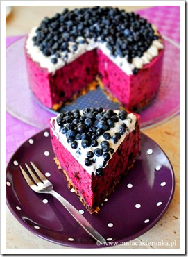 blueberry cheesecake by Mary Vileta malacukierenka.pl