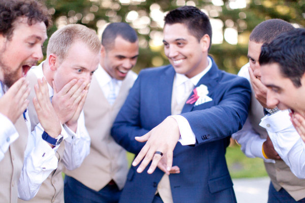 Get The Groom Enthusiastic About His Ring Too What A Fun Pose For Guys Photo Courtesy Of Style Me Pretty